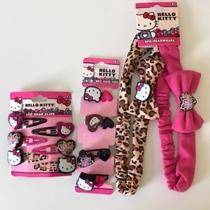 Hello kitty hair accessories for little girls